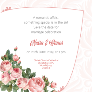 Light Pink Floral Save The Date