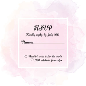 Pink and White RSVP