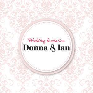 elegant pink wedding invite collection