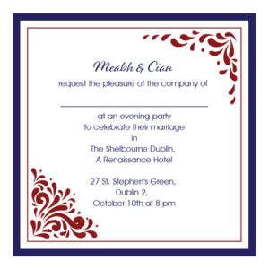 Red and Blue Evening Invitation