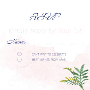 Floral Pink and White RSVP