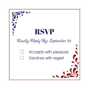 Red and Blue RSVP