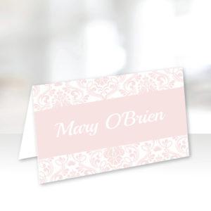 Light Pink Wedding Name Cards