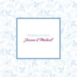 Blue and White Floral Folded Wedding Invitation