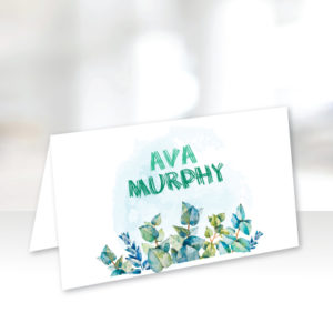 Green and Light Blue Name Cards