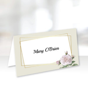 Light Green Floral Name Cards