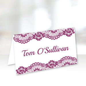 Purple Name Cards