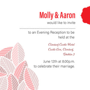 Red Floral Evening Invitation