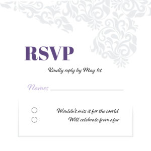 White and Purple RSVP