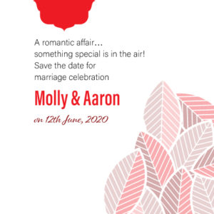 Red Floral Save The Date