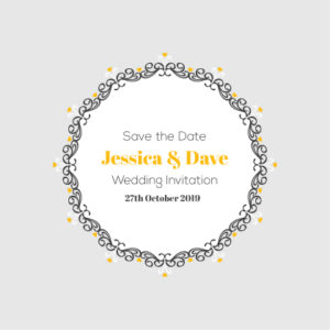 Grey and Orange Save The Date