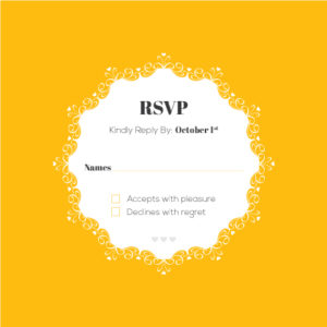 Grey and Orange RSVP