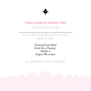 White and Pink Evening Invitation