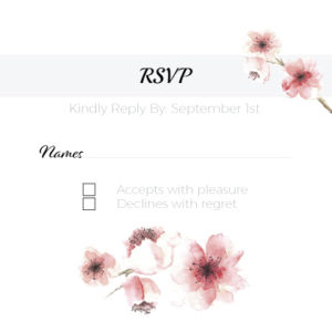 Pink Floral RSVP