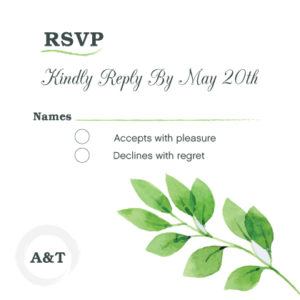 Light Grey RSVP