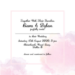 Modern Pink Evening Invitation