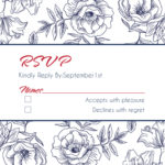 Floral Sketch RSVP