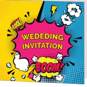 Comic Folded Wedding Invitation
