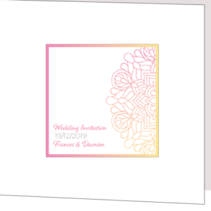 Pink and Yellow Wedding Invitation