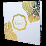 Floral Gold Cover Invitation