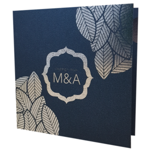 Majestic King Blue invitation with silver foil