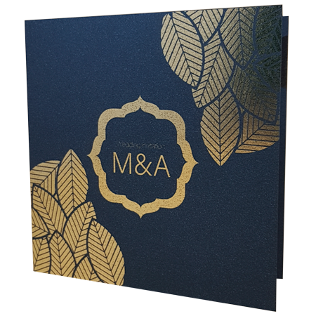 Majestic King Blue invitation with gold foil