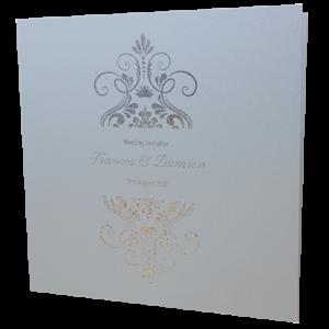 Elegant Real Silver Invitation with Silver Foil