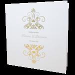Elegant Marble White Invitation with Gold Foil