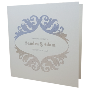 Royal Sand Invitation with Silver Foil
