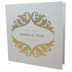 Royal Sand Invitation with Gold Foil