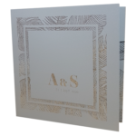 Palm Tree Luxus Real Silver Invitation with Silver Foil
