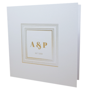 square marble white with gold foil