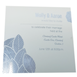 Floral Luxus Real Silver Invitation with Silver Foil