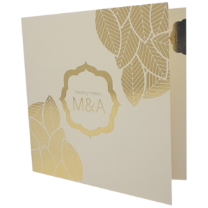 Classic Candlelight with gold foil