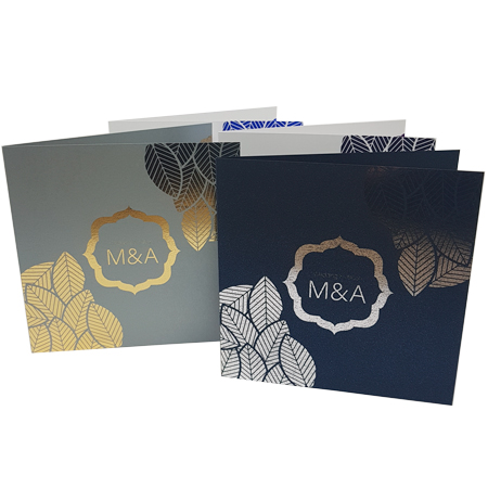 Floral invite with different paper stock