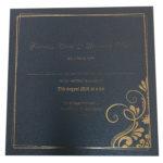Elegant King Blue Invitation with Gold Foil