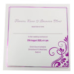 Elegant White Invitation with Pink Foil