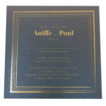 Square King Blue Invitation with Gold Foil
