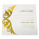 Royal White Invitation with Gold Foil