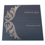 Royal King Blue Invitation with Silver Foil