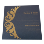 Royal King Blue Invitation with Gold Foil