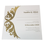 Royal Marble White Invitation with Gold Foil