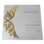 Royal Real Silver Invitation with Gold Foil
