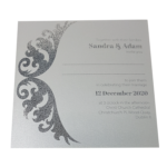 Royal Real Silver Invitation with Silver Foil