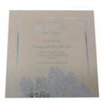 Oriental Majestic Sand Invitation with Silver Foil