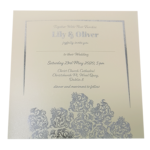 Oriental Majestic Candlelight Invitation with Silver Foil
