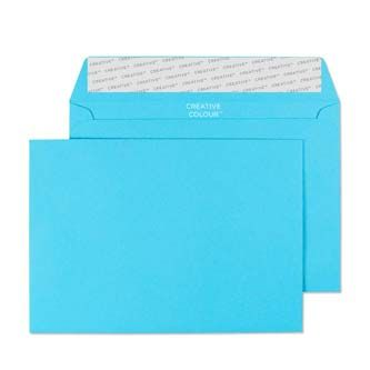 Cocktail blue c6 envelope