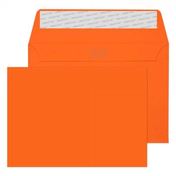 pumpkin orange c6 envelope