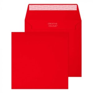 Red 155 x 155 mm Peel and Seal Envelopes