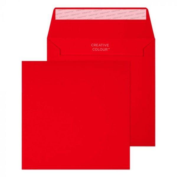 red peel and seal envelope